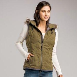 Prana Calla Wool Cargo Green Vest
